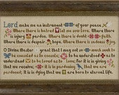 NEW Prayer of St. Francis cross stitch pattern by Lizzie Kate at thecottageneedle.com Assisi God religious sayings