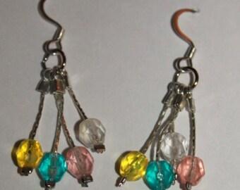 Colorful Crystal Balloon Dangle Earrings