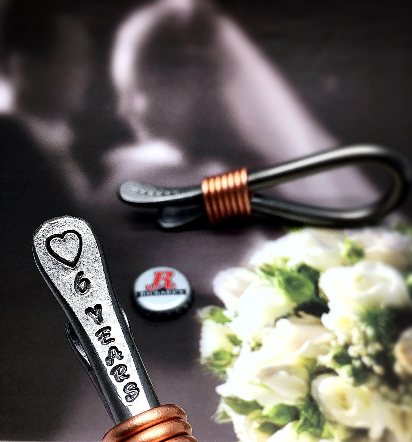 6th Wedding Anniversary Gift Ideas For Husband: 6th Year Iron Wedding Anniversary Gift Bottle Opener For