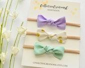 Baby Knot Headbands - Knot Bow Headbands - Knot Bow Clips - Newborn Headbands - Small Knot Bow - Baby Shower Gift - Mini Bows - Pastel Bows