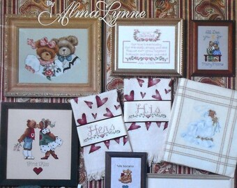 50%OFF | Alma Lynne | WEDDING BEARS | Jeanette Crews | Counted Cross Stitch Pattern | Chart | Book