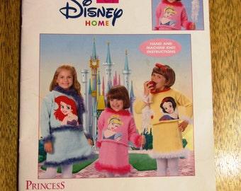 DISNEY PRINCESS  Knit Sweater Sets - Ariel / Snow White / Cinderella Designs - Sizes (4 - 10) - DISNEY Knitting Pattern by Leisure Arts 3563
