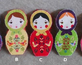 Kokeshi Finger Puppet Doll, Stick Puppet Doll, Crochet Finger Puppet (choose 1 or more)