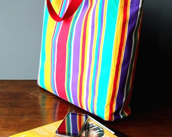 Deckchair stripe Market Bag, Shopping Bag, Beach Bag
