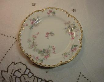 Vintage 1920's Haviland Limoges Decorative Dessert Plate Made in France