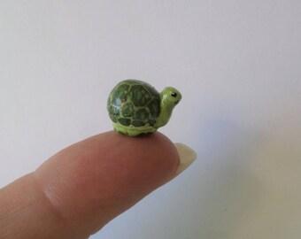 miniature turtle figurine, animal totem,  sculpture, micro figurine #141