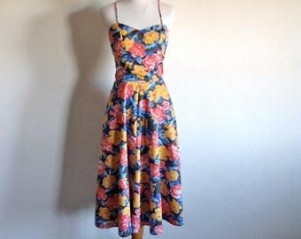 Floral Cotton Sun Dress and Bolero - Size Small