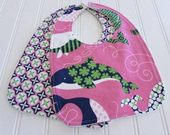 Baby Bib/Infant--18 mo./Set of Two Bibs/Sommer/Organic Fleece Back
