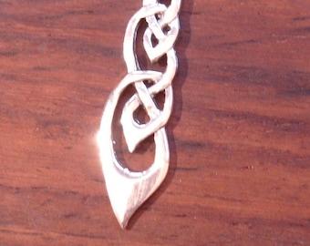 Silver cut out filigree  Celtic knot  pendant