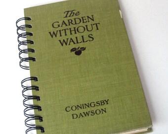 1922 GARDEN JOURNAL Handmade Journal Vintage Upcycled Book Gift for Gardener