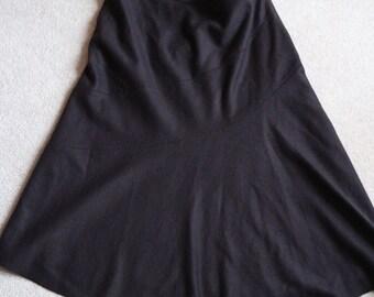 Hobbs of London brown felt wool mix A line midi skirt UK 16 , US 12 - 14