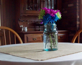 Burlap Table Squares, Set of 6, Rustic and Elegant Wedding Table Decorations, 24 x 24 or 30 x 30, Burlap Wedding, Table Square Set