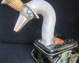 Swan Princess Bot - found object robot sculpture assemblage by Cheri Kudja with Bitti Bots