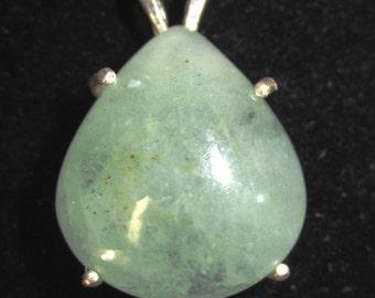 Aquamarine Pendant silver bezel 54ct
