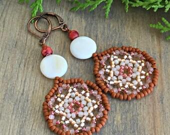She Dances Mandala earrings , gemstone jewelry