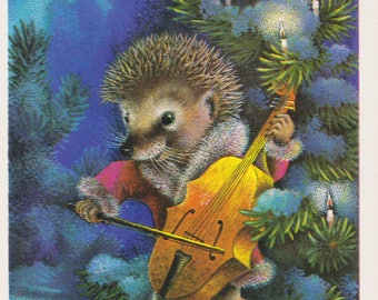 New Year's Postcard by A. Isakov -- 1977. Condition 8/10