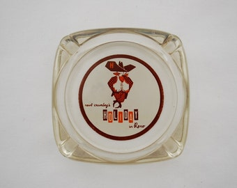 Vintage Newt Crumley's Holiday in Reno Ashtray - 1950's Hotel Casino Lodging Gambling Advertising Collectible