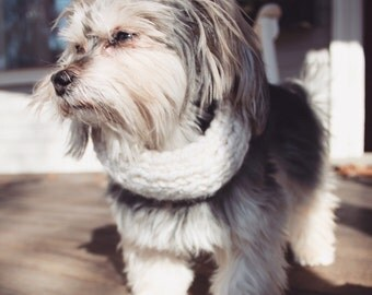 PET Cozy Wool Cowl // Thermal Collar • Dog Infinity Scarf • Knit Cowl Neck Warmer (17 colors available)