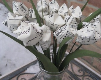 STAR Sheet Music Bouquet. Anniversary, Birthday, Valentine's, Mother's Day. Custom Orders Welcome.