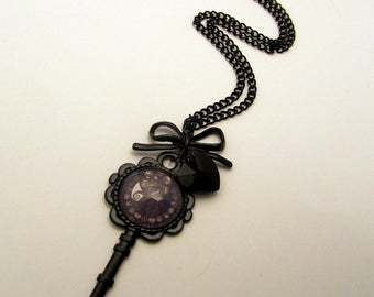 Nightmare Before Christmas Inspired Gothic Jack  Key Necklace