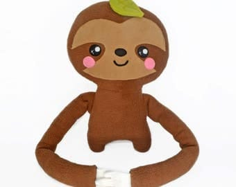 Lazy Larry  the sloth plush toy ,novelty soft ty softie plushie stuffed toy tesdy bear kawaii cute slow