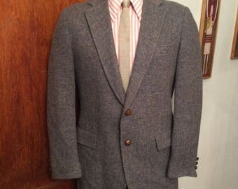 Vintage MENS Allen's of Des Plaines grey tweed jacket, sport coat or blazer, made in U.S.A.