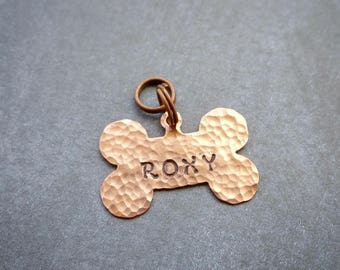 COPPER Dog Tag - MINI Dog Tag - Rose Gold Dog Tag - Personalized Dog ID Tag - Custom Engraved Dog Tag - Dog Name Tags - Dog Tags for Dogs