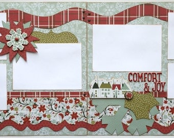 Comfort and Joy Premade 2 Page 12x12 Scrapbook Layout