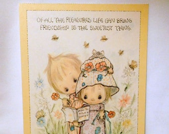 BETSEY CLARK Unused Large Postcard Card U.S.A. 1974 Vintage Hallmark Kindred Spirits - FRIENDSHIP