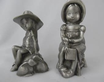 Vintage Holly Hobby Sweet Dreams and Treasures Collectible Pewter Figurines
