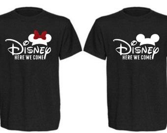 Kids Disney Shirt, Disney Here We Come Shirt, Boys Disney Shirt, Girls Disney Shirt, Family Disney Shirts, Group Disney Shirts, Disney Top