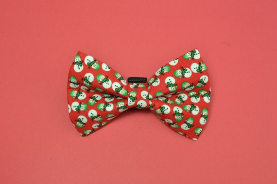 Red Snowman Dog Bow Ties