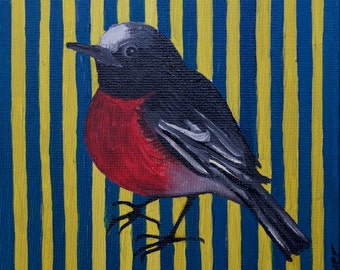MOD BIRD  Oil Painting