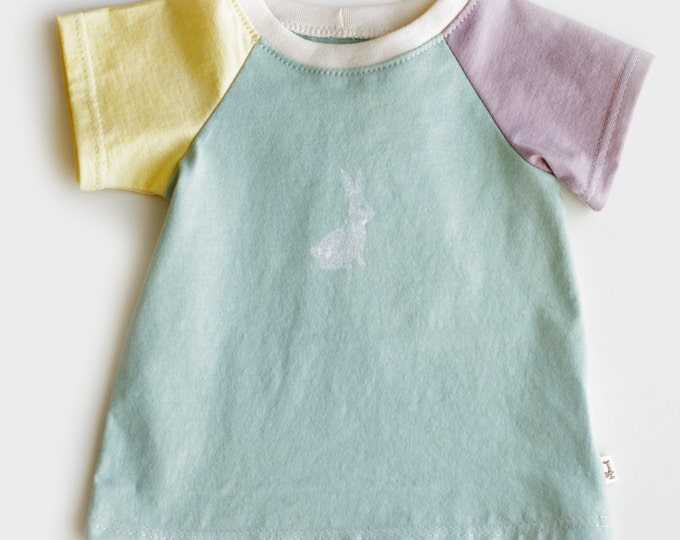 Organic Baby T-Shirt Dress // 3 Colour Baby Dress // Teal Baby Dress // Organic Baby Dress // Cute Baby Dress / Organic Baby Gift Idea