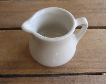 Buffalo China Co. Individual Creamer, Solid Off-White Restaurant Ware, Small Pitcher