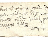1700s Antique French Note Document Gorgeous Handwriting from Vintage Paper Attic