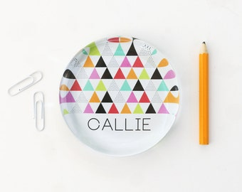 Custom Paperweight Personalized Desk Accessories Girls Office Supplies Glass Paper Weight Tribal Geometric Print New Job Gift Teacher Gifts