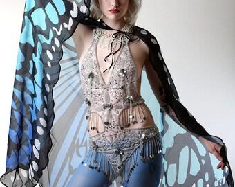 Butterfly Wings in Aqua & Blue