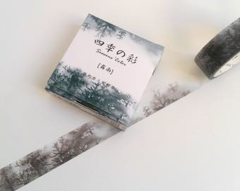 Cloudy Mountain Forest Washi Tape
