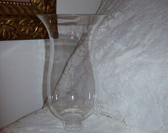 """Vintage Clear Glass Chimney Replacement Globe 8"""" Tall Only 6 USD"""