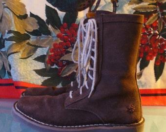 Frye High Top  Suede Desert Boot