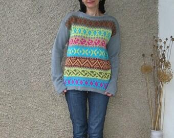 Vintage COTTON sweater, size M