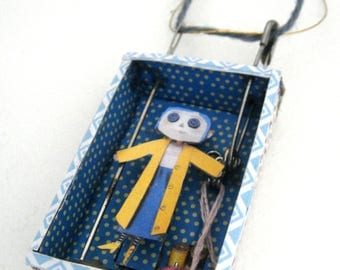 Miniature Coraline necklace
