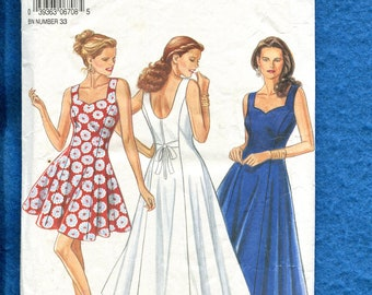 New Look 6708 Summer Time Flared Princess Seam Dress Pattern Size 6 to 12