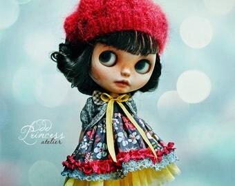 SALE!!! SPRING CARNIVAL Blythe Ooak Set By Odd Princess Atelier, Dress, Jacket, Beret, New Collection