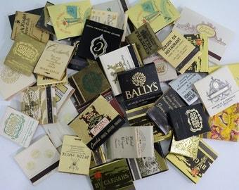 45 Black & Gold Matchbooks Lot