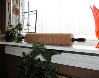 Large Antique Rolling Pin Short Bread Lefse Norwegian Scandinavian