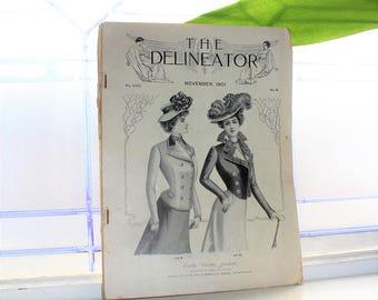 1901 Fashion Magazine The Delineator Antique Edwardian Styles