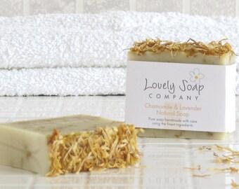 Chamomile & Lavender Natural Soap - handmade soap - vegan soap - gift soap - lavender essential oil - natural skincare - sensitive skin