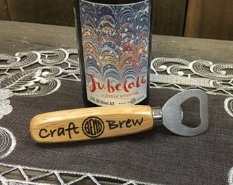 Bend Oregon Craft Brew Wooden Handle Beer Bottle Opener - Ale Trail IPA Stout Lager Pilsner Man Cave Fathers Day Gift for Him
